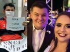 Após se recuperar da Covid-19, homem pede namorada em casamento