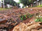 Rua Batista, no bairro Aimoré, sem asfalto e tomada de buracos Fotos: Jhoseff Bulhões
