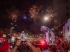 A queima de fogos foi realizada no início da festa. Foto: Tero Queiroz