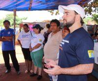 Vereador João César Mattogrosso participou de ação social na Aldeia Água Funda