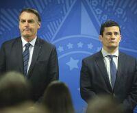 """""""Lógico que Moro deve ser contra"""", diz Bolsonaro sobre recriar ministério"""