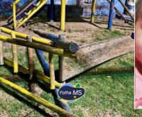 Balanço cai e mata criança de 3 anos em parquinho de Corumbá