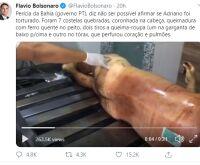 Flávio Bolsonaro posta vídeo fake acusando autópsia do corpo do miliciano