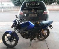 Motociclista foge de policiais e abandona moto roubada há dez dias