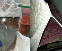 Enfermeiro dorme no terraço para proteger a mãe; faz plantão de 12h por R$ 80