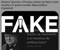 É #FAKE suposta fala de Winston Churchill compartilhada por filhos de Bolsonaro