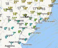 Temperaturas de até 5°C nesta 5º-feira em MS