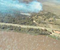 Incêndio próximo à escola mobiliza brigadistas em região remota do Pantanal