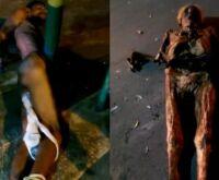 Homem é preso por desenterrar ossada da avó e dançar com cadáver na rua
