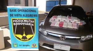 Polícia encontra 26kg de cocaína escondidas em Honda Civic
