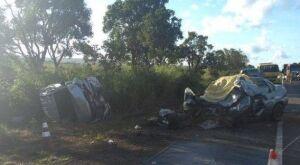 Colisão na BR-163 deixa idoso morto e outros 4 feridos