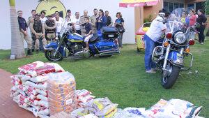 PRFs entregam 2,5 ton de alimentos arrecadados em campanha