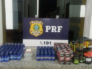 PRF apreende em Coxim grande quantidade de anabolizantes e suplementos
