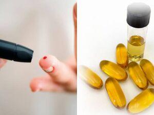 À direita protótipo das cápsulas que poderão substituir as injeções de insulina. À esquerda, diabético se submete ao teste de glicose (Shutterstock/Harvard University/.)