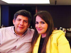 Lídio Lopes e sua esposa Adriana Lopes
