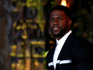 Cast member Kevin Hart poses at the premiere for Jumanji: Welcome to the Jungle in Los Angeles, California, U.S., December 11, 2017