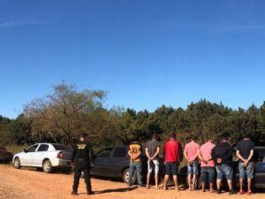 Oito são presos com carga avaliada em R$ 50 mil na fronteira