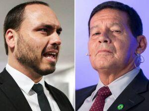 Carlos mantém ataques a Mourão após pedido de Bolsonaro por armísticio
