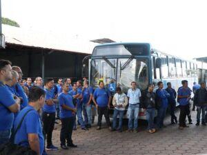 Motoristas de ônibus fazem paralisação de três horas em protesto contra a Reforma da Previdência