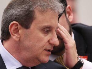 O doleiro Alberto Youssef, durante depoimento na CPI dos Fundos de Pensão Foto: Jorge William / Agência O Globo (27/10/2015)