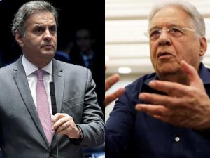 O deputado federal Aécio Neves e Fernando Henrique Cardoso