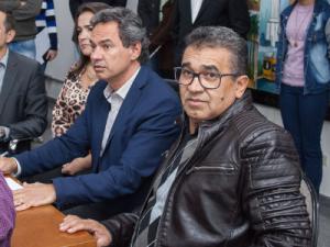 O vereador Aírton Araújo ao lado do prefeito de Campo Grande Marquinhos Trad