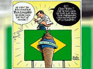 Bolsonaro sob a ótica do artunista Nicolas Tabary, do Charlie Hebdo
