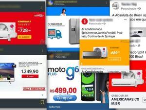 Anúncios divulgam produtos com preços muito abaixo do mercado para impulsionar páginas clonadas, roubar senhas e cobrar boletos sem entregar a mercadoria