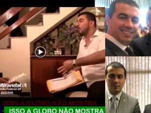 uis Miranda na entrevista ao Fantástico e em fotos com Bolsonaro e Sergio Moro