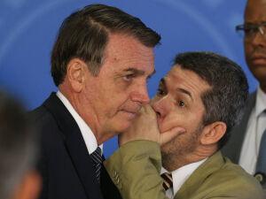 O presidente Jair Bolsonaro e o deputado Delegado Waldir (PSL-GO)
