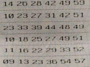 Bilhete continha as dezenas 04, 11, 16, 22, 29 e 33