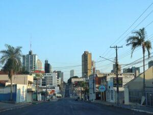 Região central de Campo Grande no início desta manhã