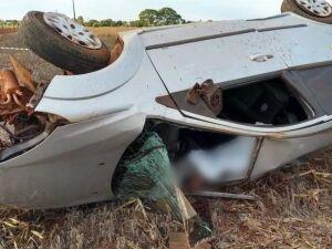 Vítima já foi encontrada morta dentro de carro em posição de capotagem