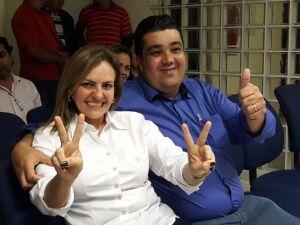 Delano Huber e a mulher, Elaine, nas eleições de 2016