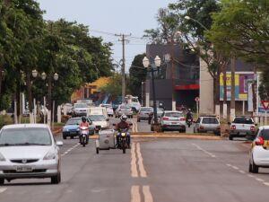 Rua Coronel Ponciano é hoje uma das vias mais movimentadas de Dourados