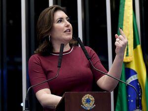 A senadora Simone Tebet (MDB/MS) no Congresso Nacional