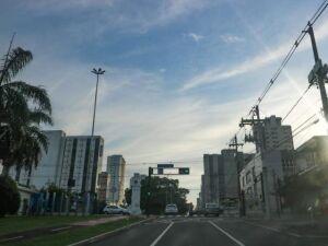 Avenida Afonso Pena, no centro de Campo Grande.