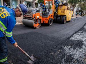 Obras sendo realizadas em Campo Grande