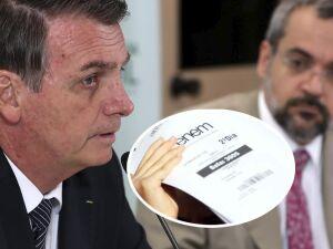 Diante do caos do Enem, Bolsonaro já admite falha interna