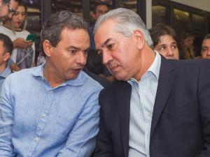Marquinhos Trad e o governador Reinaldo Azambuja