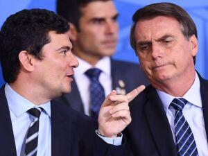 O ministro da Justiça e Segurança Pública Sérgio Moro e Bolsonaro