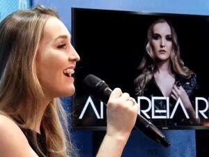 A cantora Andreia Rios