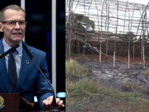 Na manhã do primeiro dia de 2020, o resultado da aço incendiária criminosa contra a Casa de Reza