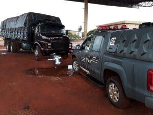 O Condutor disse que pegou a carga em Tacuru
