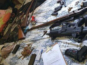 Armas apreendidas na operação da PF