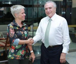 Presidente Michel Temer e sua nova Ministra do Trabalho Cristina Brasil.
