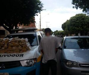 Rapaz preso em MS com maconha para ser levada para MG