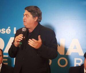 O apresentador José Luiz Datena no dia do lançamento de sua candidatura