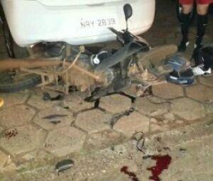 Moto foi arrastada por carro junto com corpo da vítima; acidente ocorreu há 3 anos