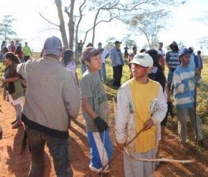 ndios no município de Caarapó, onde Justiça Federal mandou cumprir mais uma ordem de despejo